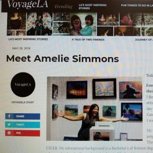 My Featured Artist Interview with Voyage LA Magazine